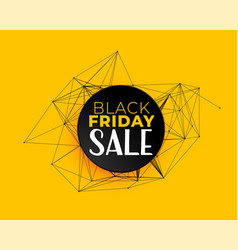 black friday sale background in technology vector image