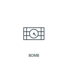 bomb concept line icon simple element vector image