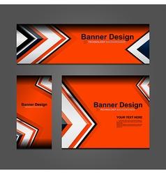Business banner orange backgrounds vector