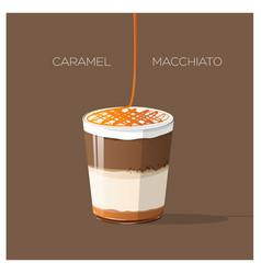 caramel macchiato vector image