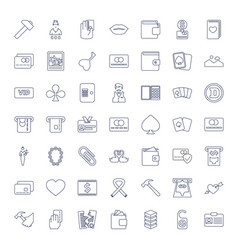 Card icons vector