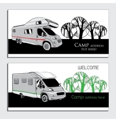 cars Recreational Vehicles Camper vector image