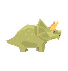 Cartoon styracosaurus character jurassic period vector