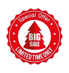 Christmas big sale special offer sticker vector
