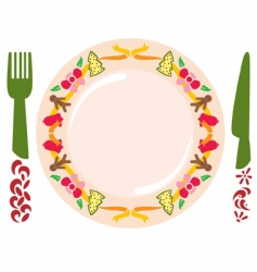 christmas meal vector image vector image
