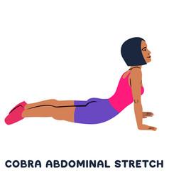 Cobra abdominal stretch old horse stretch sport vector