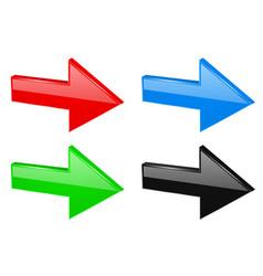 colored next 3d arrows vector image