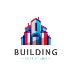 Colorful building house icon logo vector