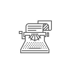 copywriting line icon vector image
