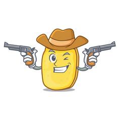Cowboy potato chips character cartoon vector