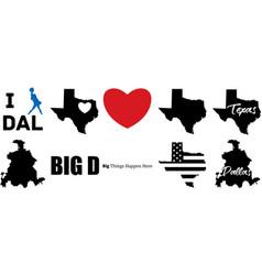 Dallas texas map vector