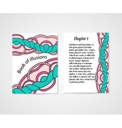 Design of boock cover whit doodle abstract pattern vector image