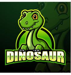 dinosaur mascot esport logo design vector image