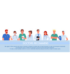doctor people recommend concept medical hospital vector image