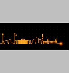 Dushanbe light streak skyline vector