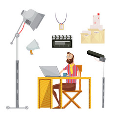 Film director set vector