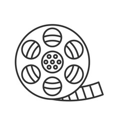 filmstrip roll linear icon vector image