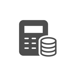financial calculation icon and budget concept vector image