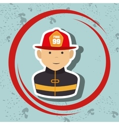 Firefighter uniform protection rescue vector