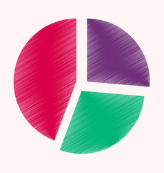 Flat shading style icon pie chart infographics vector