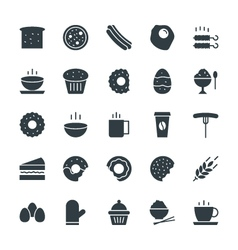 Food Cool Icons 3 vector image
