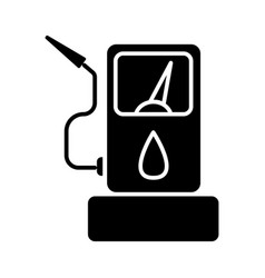fuel gas station icon black vector image