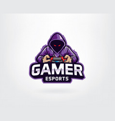gamer mascot logo design vector image