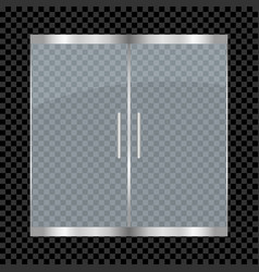 glass door isolated on transparent background vector image