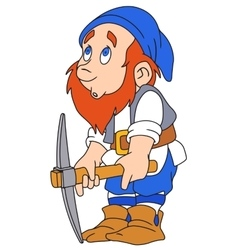 Gnome with pickaxe vector image