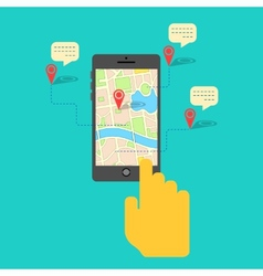 GPS service on Mobile Phone vector image