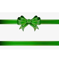 Green ribbon and bow vector
