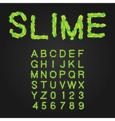 Halloween Style Typeface Green Slime Uppercase vector