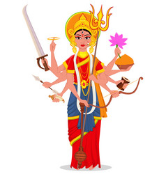 Happy dussehra maa durga on white background vector