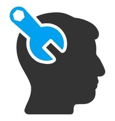 Head Neurology Wrench Flat Icon vector