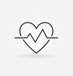 Heartbeat outline icon simple heart beat vector