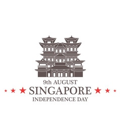 Independence Day Singapore vector image