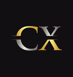 initial cx letter logo with creative modern vector image