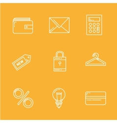 Internet Shopping Icon Set e-commerce vector