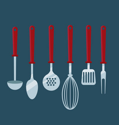 kitchen cooking utensils vector image