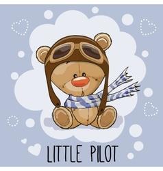 Little Pilot vector image