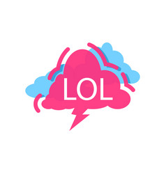 Lol speech bubble with expression text vector