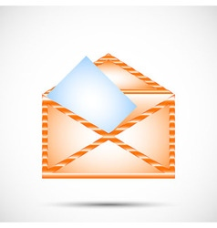 mail envelope in color vector image