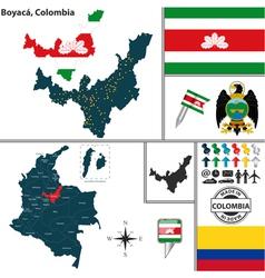 Map of Boyaca vector