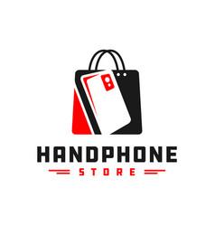 mobile phone shop logo vector image
