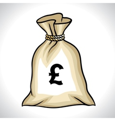 Money bag with pound sign vector