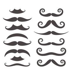 Mustache Silhouette vector