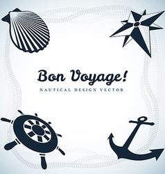 Nautical design vector image