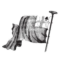 new england flag vintage vector image