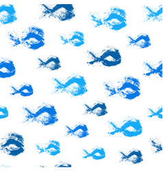 Painted fish pattern background vector