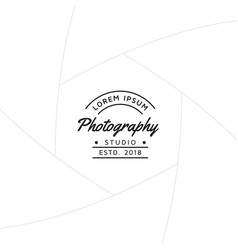 photography badge or label design vector image